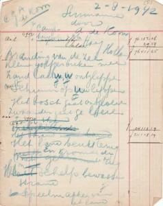 Het gedicht Suriname, 2 augustus 1942. Familiearchief Els de Kom